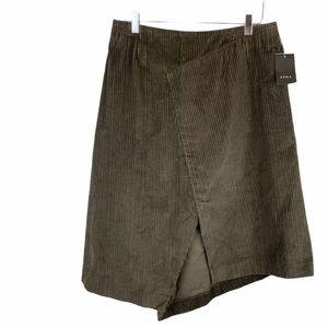 ZYGA Green Corduroy Skirt Made In France